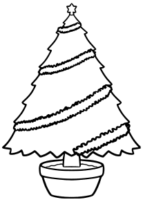 Christmas Tree 4-2 free coloring pages for kids