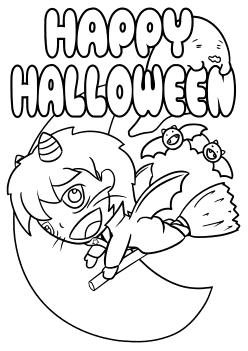 Halloween3 free coloring pages for kids