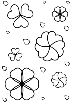 Flower 11 Heart free coloring pages for kids