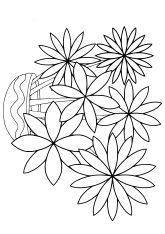 Flower17 free coloring pages for kids