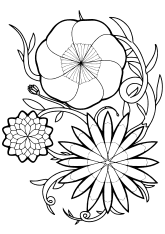Flower18 free coloring pages for kids
