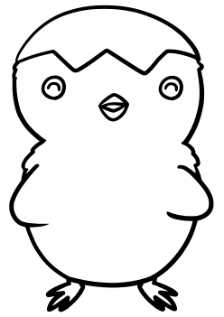 Chick3 free coloring pages for kids