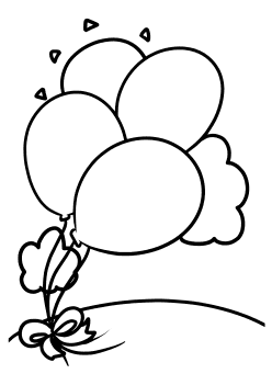 Baloon2 Coloring Pages for kids