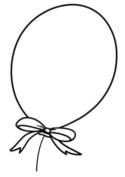 Baloon Coloring Pages for kids