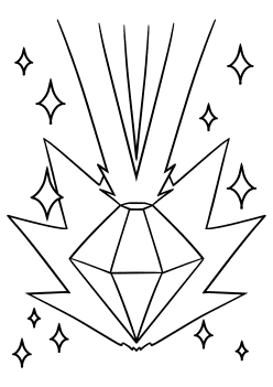 Shining Jewel Coloring Pages for kids