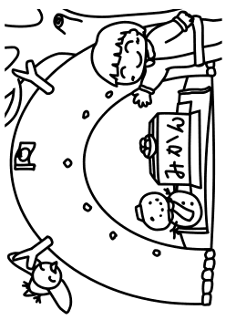 Snow House free coloring pages for kids