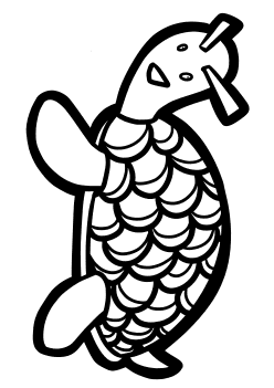 Turtle 2 free coloring pages for kids