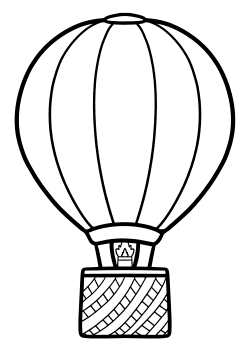 Balloon Coloring Pages for kids