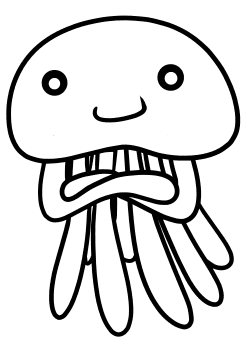 JellyFish2 free coloring pages for kids