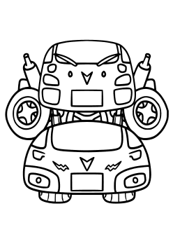 Car Robot Coloring Pages for kids
