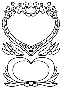 Heart and Flower Letter free coloring pages for kids