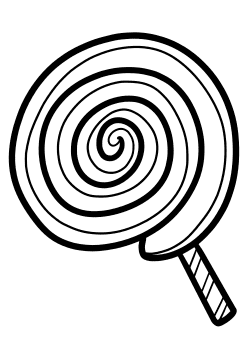 Lolipop Coloring Pages for kids