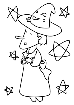 Witch3 free coloring pages for kids