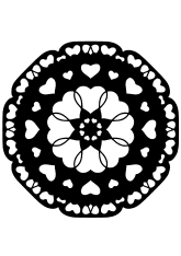 Mandala1-16 free coloring pages for kids