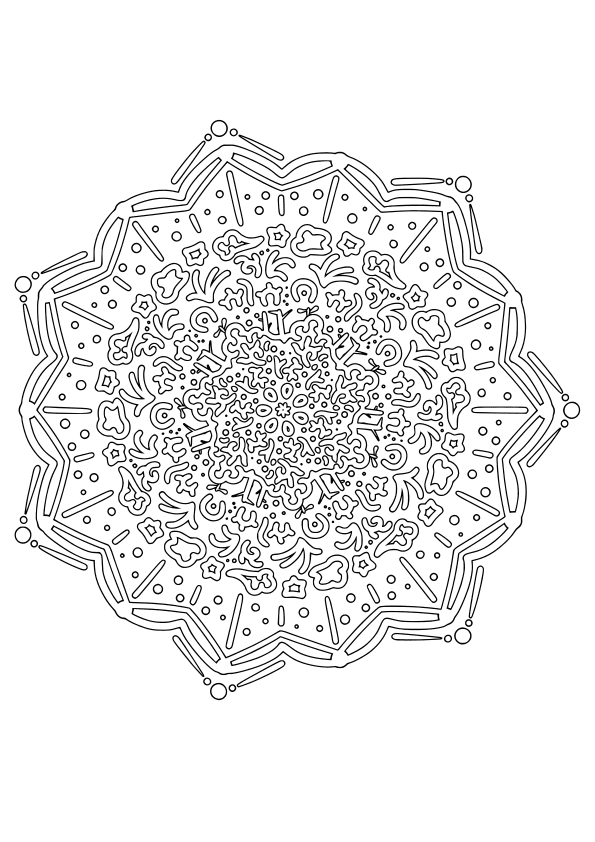 Mandala28 free coloring pages for kids