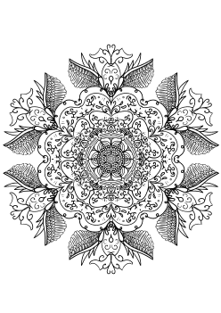 Mandala30 free coloring pages for kids