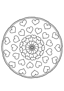 Mandala31Heart free coloring pages for kids