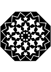 Star mandala 38-2 free coloring pages for kids
