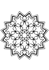 Star Mandala 38 free coloring pages for kids