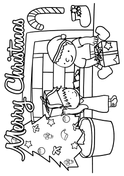 Merry Christmas free coloring pages for kids