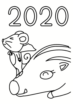 2020 Coloring Pages for kids