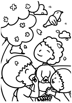Sakura4 free coloring pages for kids