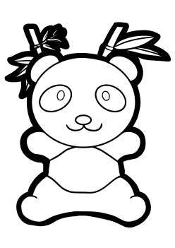 Panda free coloring pages for kids