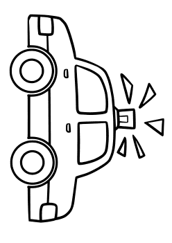 Police Patrol car2 Coloring Pages for kids