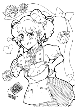 Premium18 Sweets Girl free coloring pages for kids
