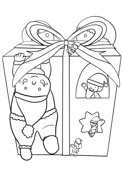 Christmas Present and Santas free coloring pages for kids