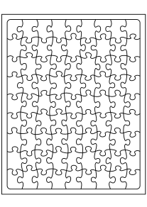 Jigsaw Puzzle1 free coloring pages for kids