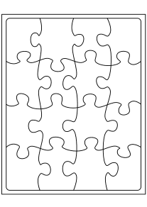 Jigsaw Puzzle2 free coloring pages for kids
