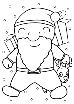 Santaclaus3 free coloring pages for kids