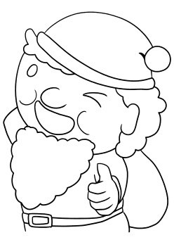 Santaclaus4 free coloring pages for kids