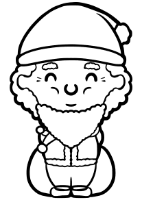 Santaclaus10 free coloring pages for kids