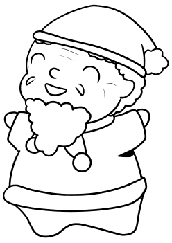 Santaclause7 free coloring pages for kids