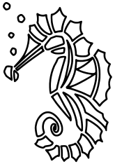 Sea Dragon2 free coloring pages for kids