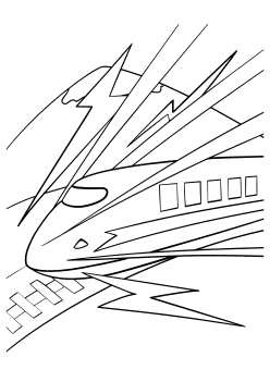 Shinkansen2 Coloring Pages for kids