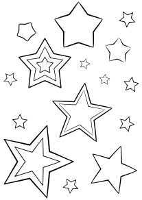 Star9 free coloring pages for kids