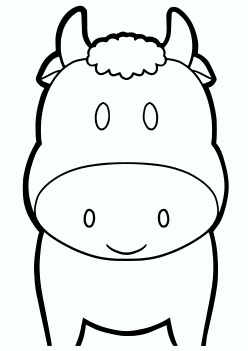 Cow2 Coloring Pages for kids