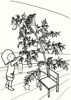 Tanabata- free coloring pages for kids