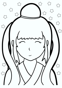 Tanabata Orihime free coloring pages for kids