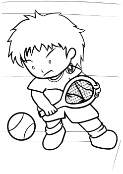 Tennis2 free coloring pages for kids