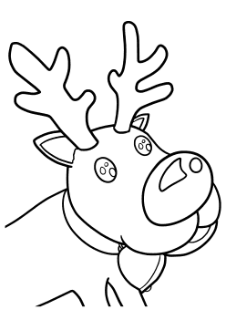 Reindeer2 free coloring pages for kids