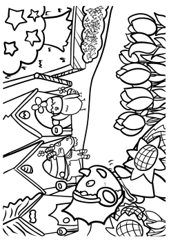 Colorful Planet free coloring pages for kids