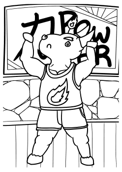 Powerfull Buffalo free coloring pages for kids