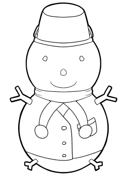 Snowman2 Coloring Pages for kids