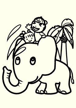 Elephant3 free coloring pages for kids