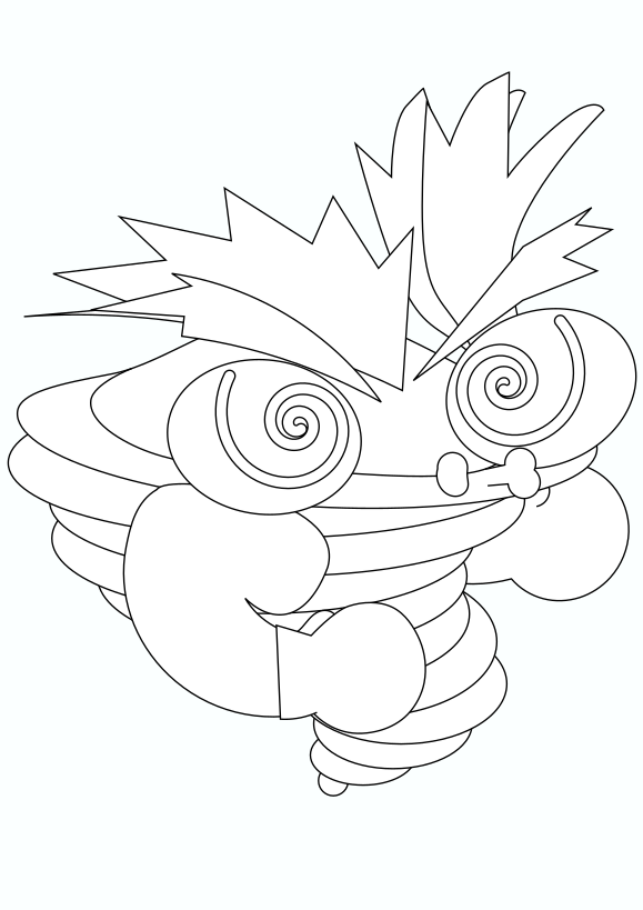 Typhoon character  Typhoon character  Free printable coloring page for kids