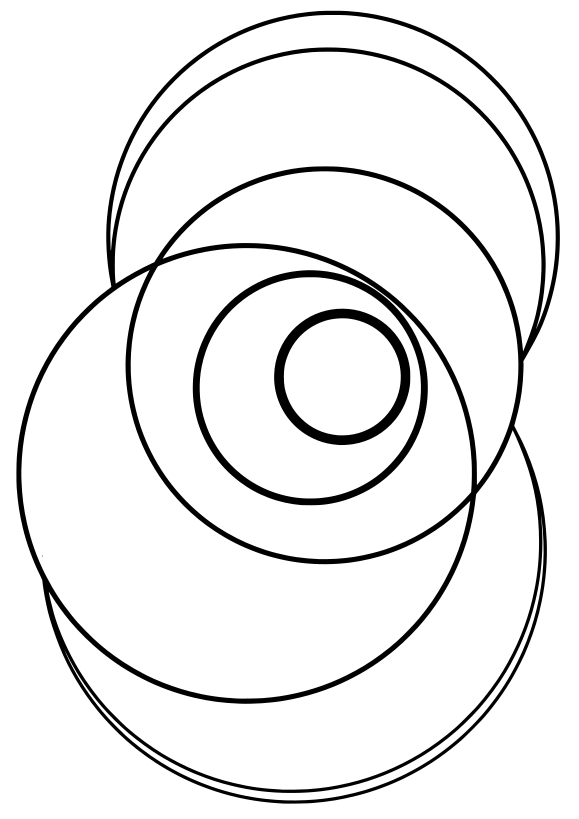 Captured Circle Captured Circle Free printable coloring page for kids